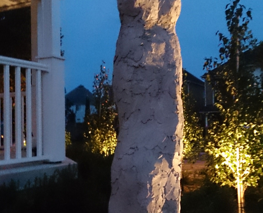 Dakota sculpture at dusk