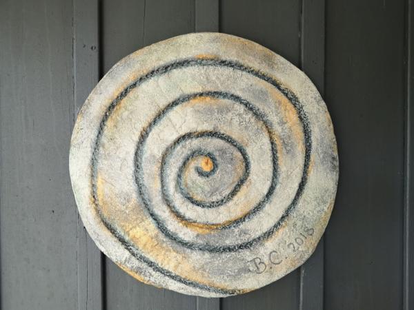 Concrete Art Mandala on Wall