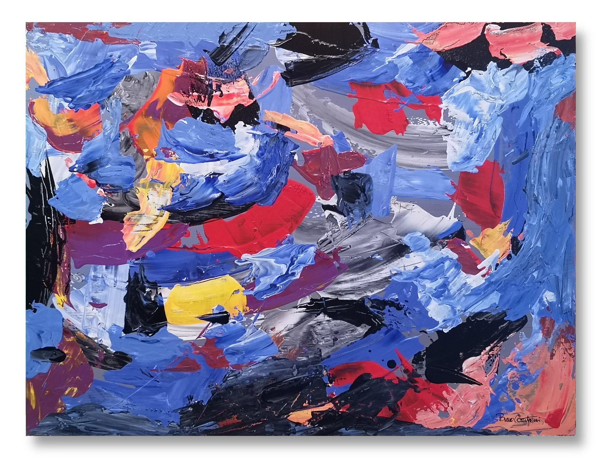 "Random Thoughts 9 ""Conundrum Blues"" - 45 cm x 61 cm (18″ x 24″)"