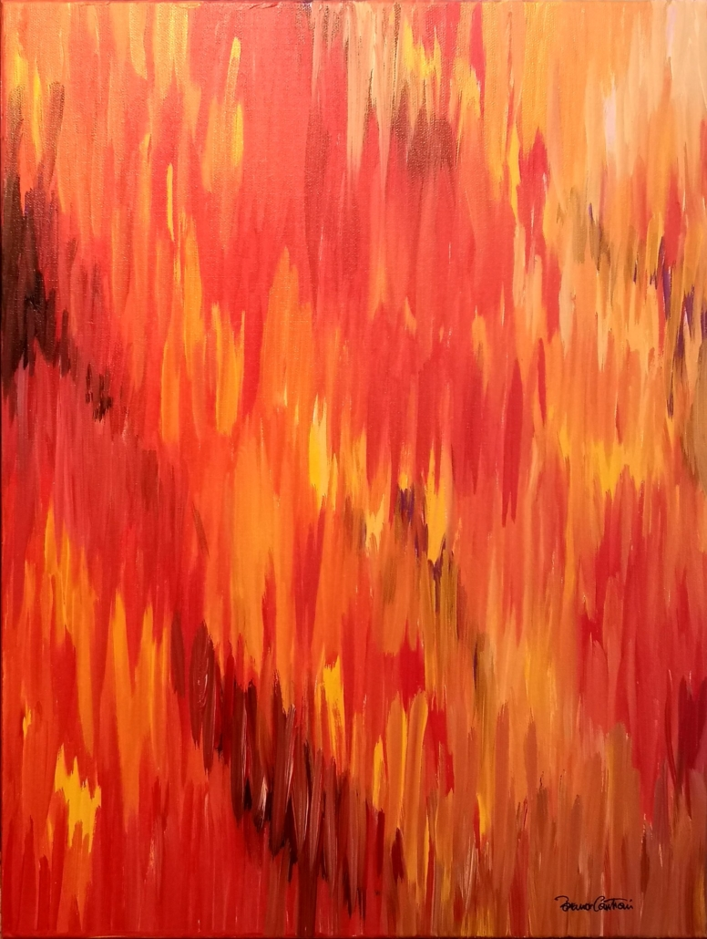 "E\Motion 10 ""Falling Fragments Of Fire"" Painting"