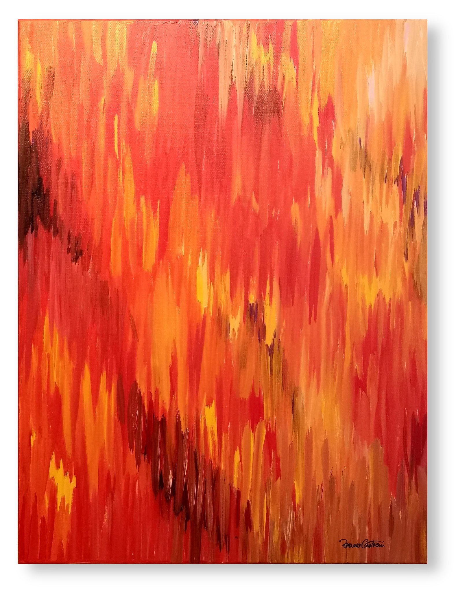"EMotion series ""Falling Fragments Of Fire"" - 61 cm x 45 cm (24″ x 18″)"