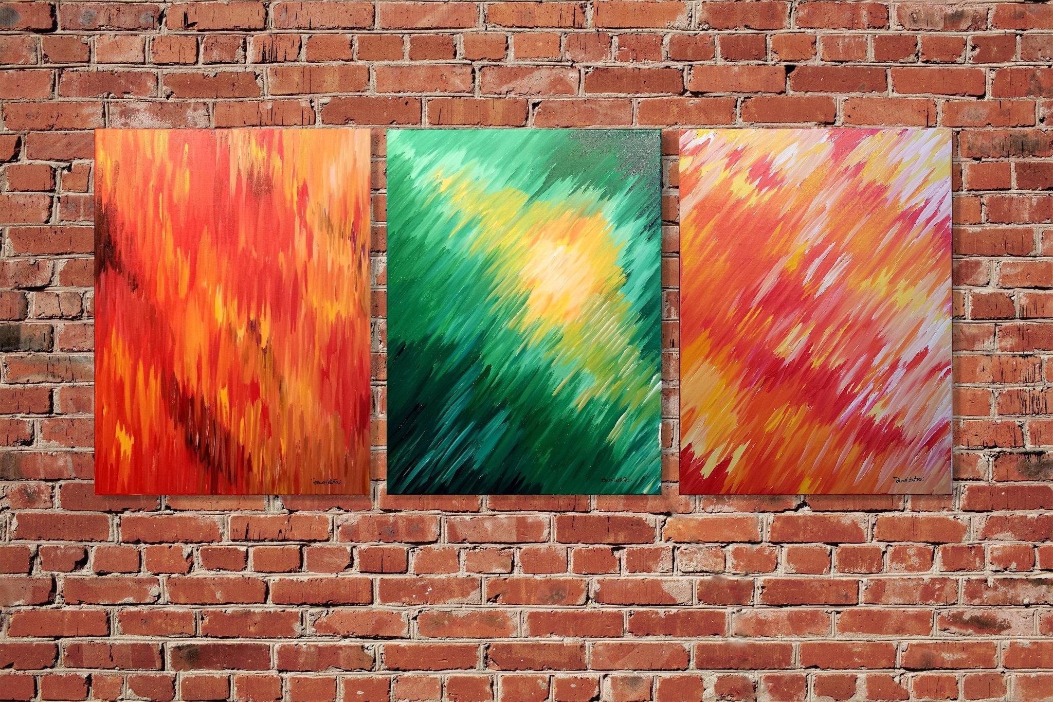 "Chroma ""Glowing Departure Of Verde"" - 61 cm x 45 cm (24″ x 18″)"