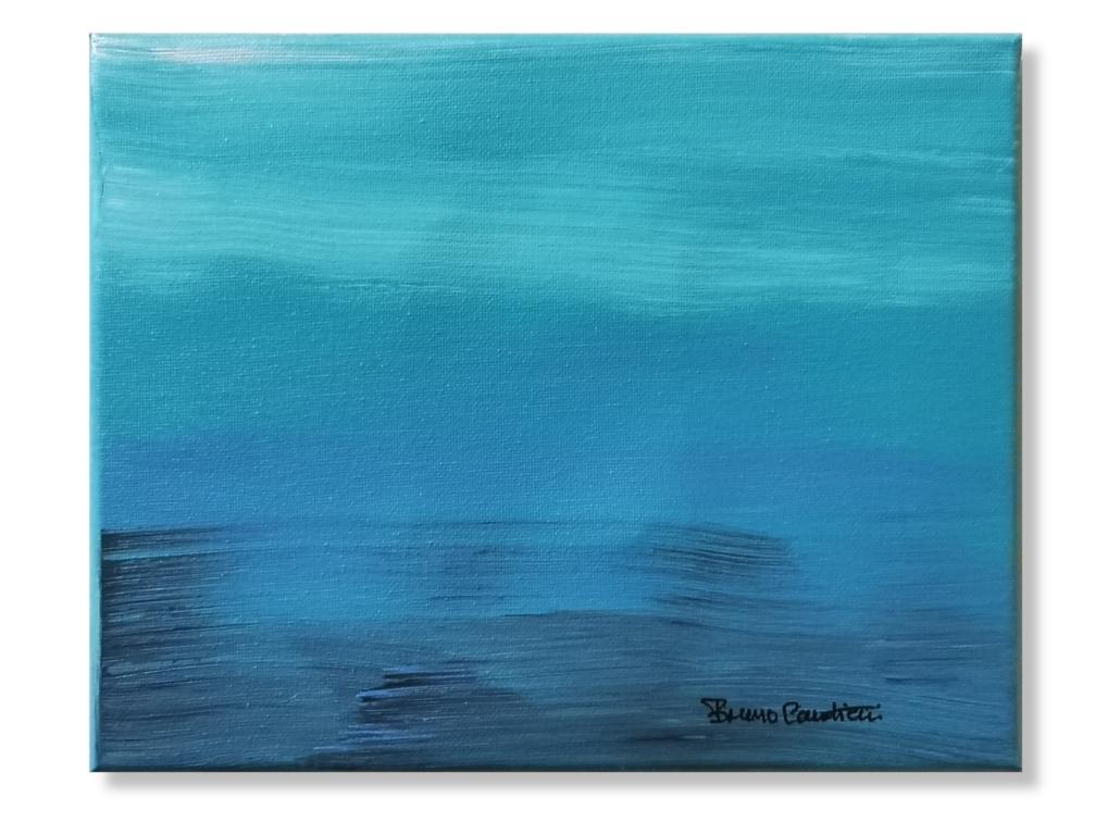 """""""Brume Sur Le Fleuve"""" Acrylic Painting"""
