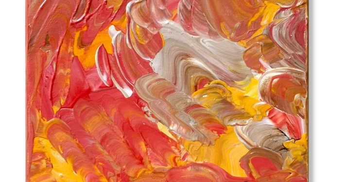 Random Thoughts 11 - Turbulent Sunset Painting