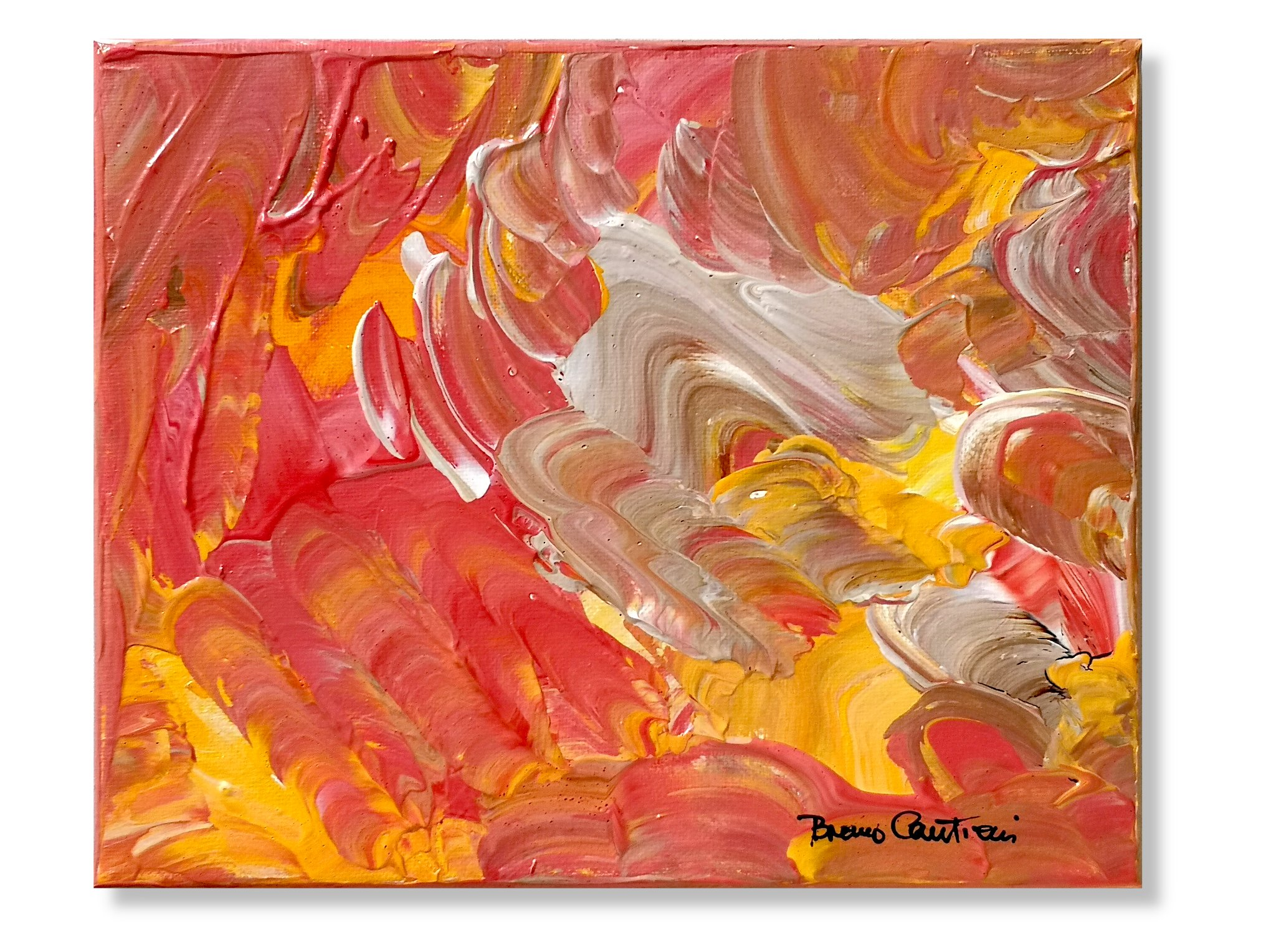 "Random Thoughts 11 ""Turbulent Sunset"" - 20.5 cm x 25.5 cm (8""x10"")"
